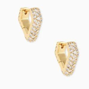 Kendra Scott Demi Huggie Earrings in Gold
